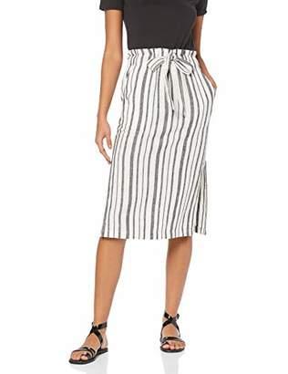 find. RS-01 Skirts for Women, Multicolour (Black/White Stripe), (Size:L)