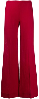 Romeo Gigli Pre-Owned 1990s Mid-Rise Flared Trousers