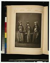 Historic Photographs Photo: Studio Models, Province of Koniah, Konya, Ottoman Empire, Turkey, Bourdour, Kurdish . Size: 8