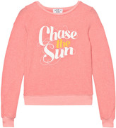 Wildfox Couture Peach Chase the Sun Print Baggy Beach Jumper