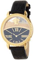 Versace Women's Krios Bead Window Leather Strap Watch