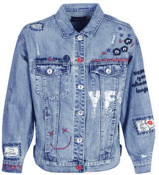 Desigual YES JACKET women's Denim jacket in Blue