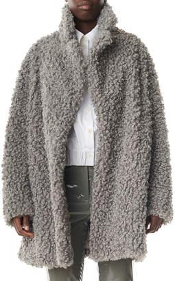 Tibi Faux Lamb Shearling Pea Coat