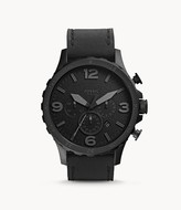 Fossil Nate Chronograph Black Leather Watch