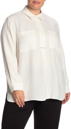 Lafayette 148 New York Prianka Silk Blouse (Plus Size)