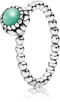 Pandora Ring - Sterling Silver & Chrysoprase Birthday Blooms May