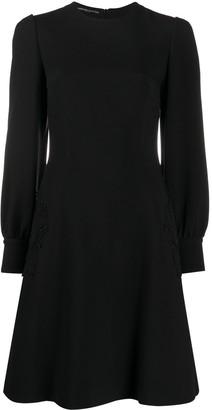 Ermanno Scervino lace-applique A-line mini dress