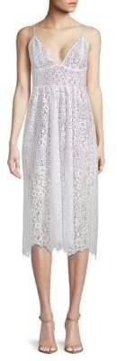 For Love & Lemons Botanic Lace Midi Dress
