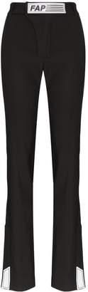 Filles a papa tailored logo patch trousers