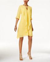 Thalia Sodi Tab-Sleeve Draped Dress, Only at Macy's