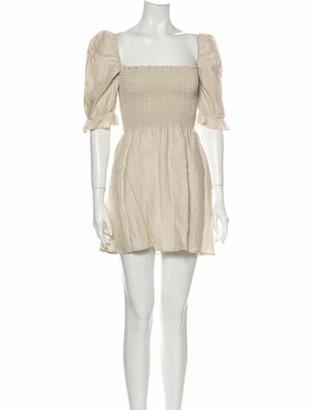 Reformation Linen Mini Dress Brown