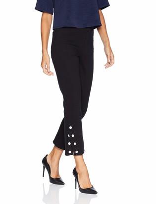 Lysse Women's Denim Ankle Snap Flare Pant