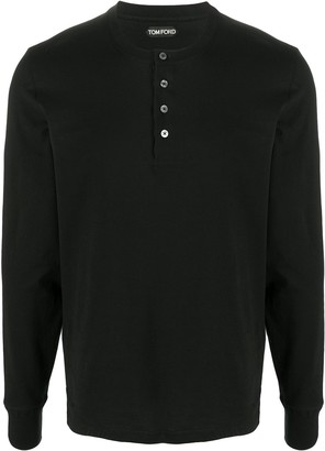 Tom Ford button-up round neck T-shirt