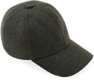 Brunello Cucinelli Men's Double-Face Wool Baseball Hat