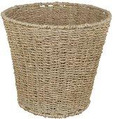 JVL Natural Round Seagrass Waste Paper Basket Bin - 28 x 25 cm