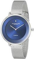 Stuhrling Original Women's 589.02 Symphony Diamond-Accented Stainless Steel Watch