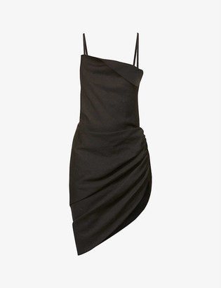 Jacquemus La robe Saudade open-back woven mini dress