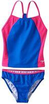 Speedo Girls 7-16 Splice Tankini Swimsuit Set