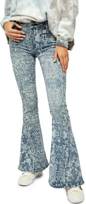 Free People Dream Lover Paisley Flare Jeans