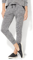 New York & Co. Lace-Trim Marled Knit Jogger