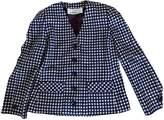 Jean Louis Scherrer Jean-louis Scherrer Blue Tweed Jacket for Women Vintage