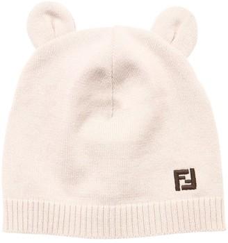 Fendi Cotton Blend Bunny Hat