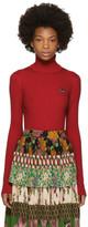 Gucci Red Fine Wool Turtleneck