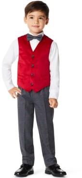 Nautica Little Boys Velvet 4 Piece Vest Set