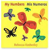 """Bed Bath & Beyond """"My Numbers/Mis Numeros"""" Bilingual Board Book by Rebecca Emberly (English/Spanish)"""