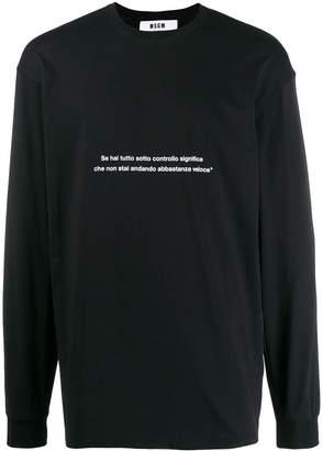 MSGM slogan printed top