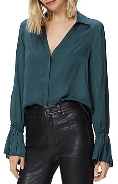 Paige Abriana Pleated Cuff Shirt