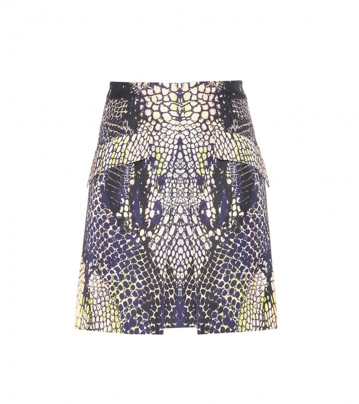 McQ Cotton-blend printed skirt