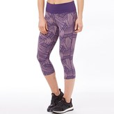 Asics Womens Fuzex Deep Waisted Graphic Running Capri Leggings Brush Elderberry