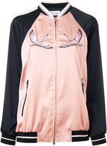 RED Valentino embroidered bomber jacket - women - Polyamide/Polyester/Spandex/Elastane/Viscose - 40