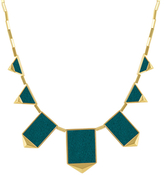House Of Harlow Classic Leather Station Necklace