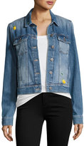 Paige Wylder Sunny Embellished Denim Jacket, Indigo