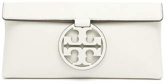 Tory Burch Clutches Birch - White Miller Birch Leather Clutch