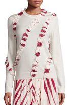 Tory Burch Lucea Merino Wool Ruffle Sweater