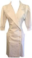 Ungaro White Cotton Dress for Women Vintage
