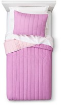 Nobrand No Brand Reversible Quilt Set - Pink-Purple (Twin)