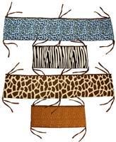 One Grace Place 10-14b012 Jazzie Jungle Boy-Crib Bumper/Rail Cover