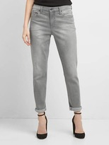 Gap Mid rise distressed best girlfriend jeans