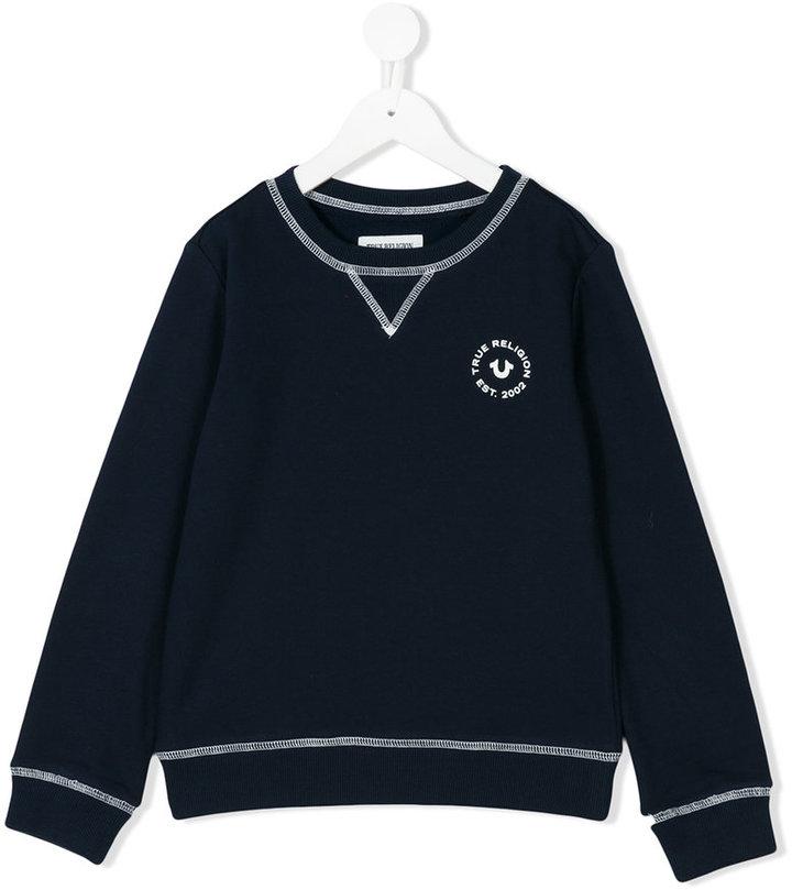 True Religion chest print sweatshirt