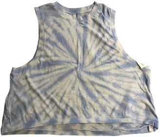 Free People Blue Cotton Top for Women