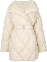 Pringle belted quilted puffa coat