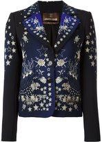 Roberto Cavalli star print fitted jacket