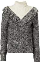 Exclusive for Intermix Deja Fringe Cable Knit Sweater