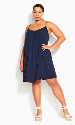 City Chic Vacation Dress - navy