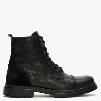 Daniel Sumble Black Tumbled Leather Work Boots