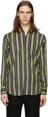 Cobra S.C. Black and Yellow Silk Stripe Replica Shirt